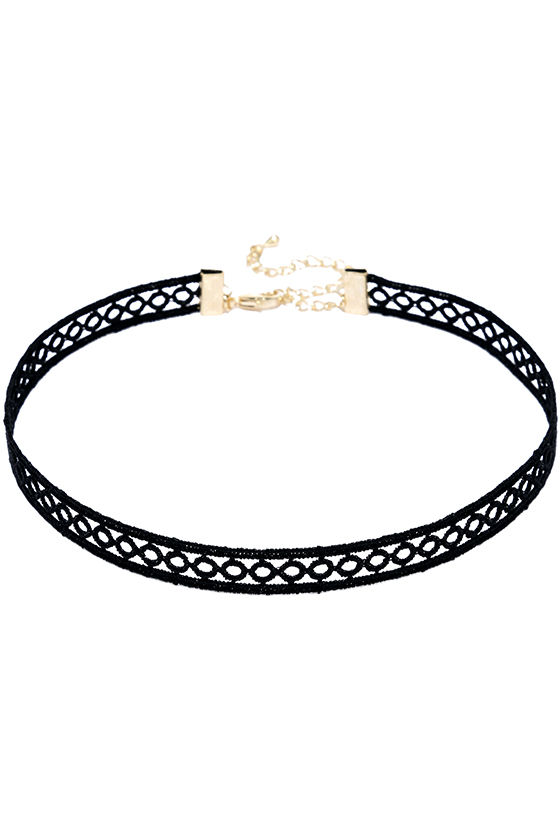Tricycle Race Black Lace Choker Necklace 3