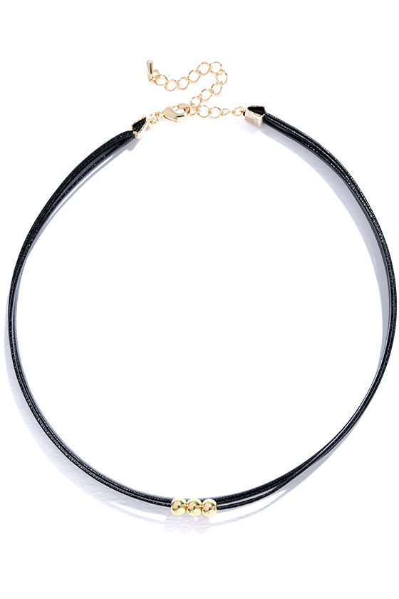 Common Ground Black and Gold Choker Necklace 2