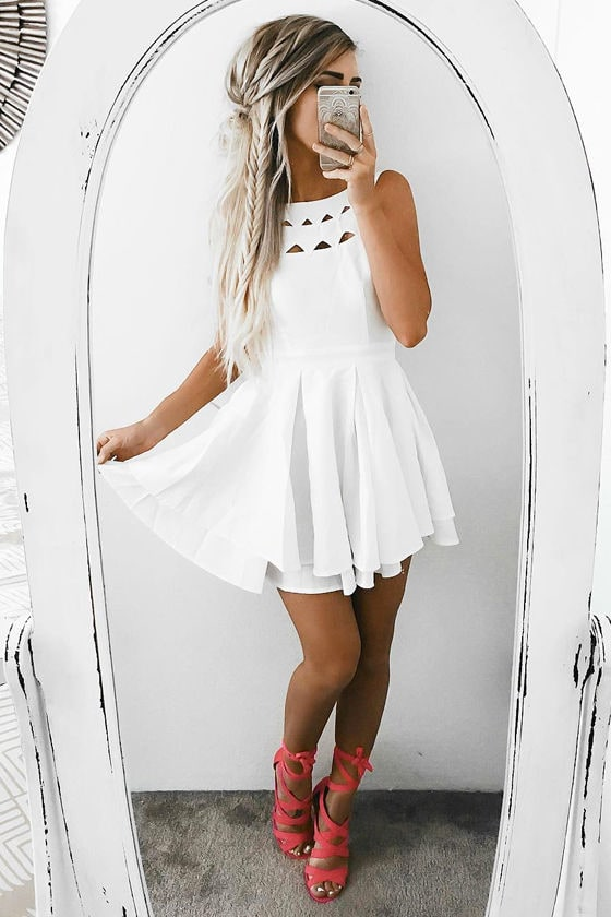 Flirting with Danger Cutout Ivory Dress 7