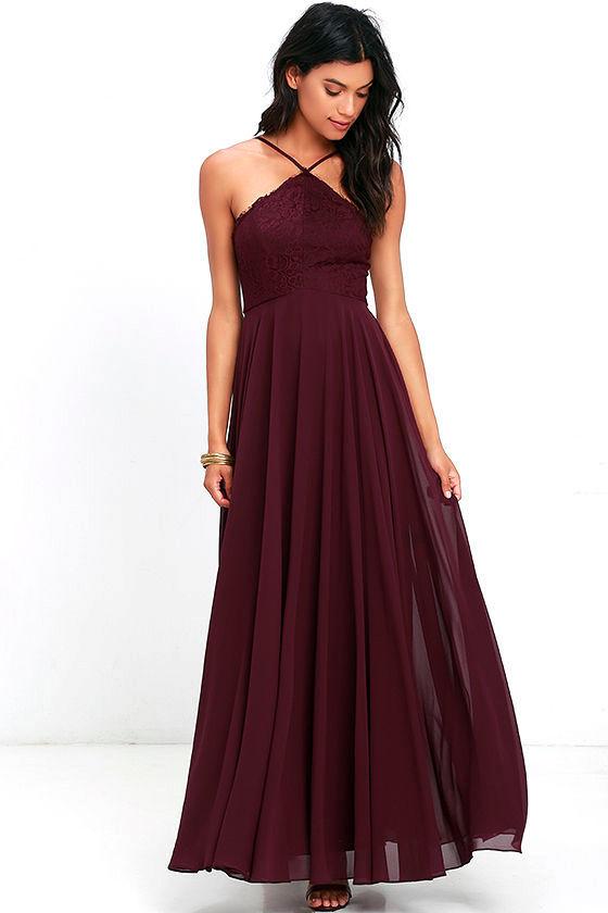 Everlasting Enchantment Burgundy Maxi Dress 1