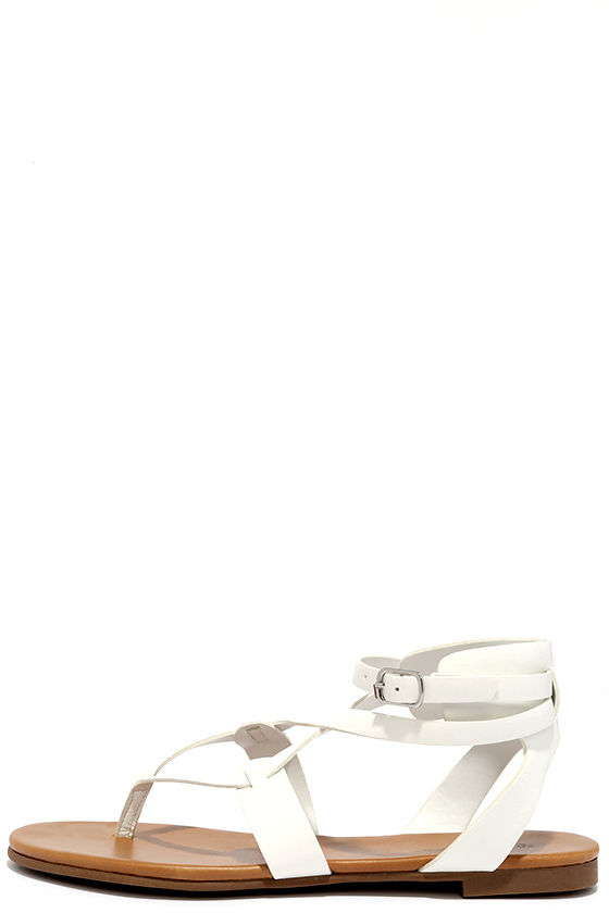 5ab35cab84c0 Cool White Sandals - Thong Sandals - Gladiator Sandals -  19.00