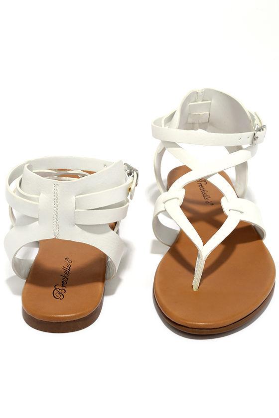 d0f81e14d Cool White Sandals - Thong Sandals - Gladiator Sandals -  19.00