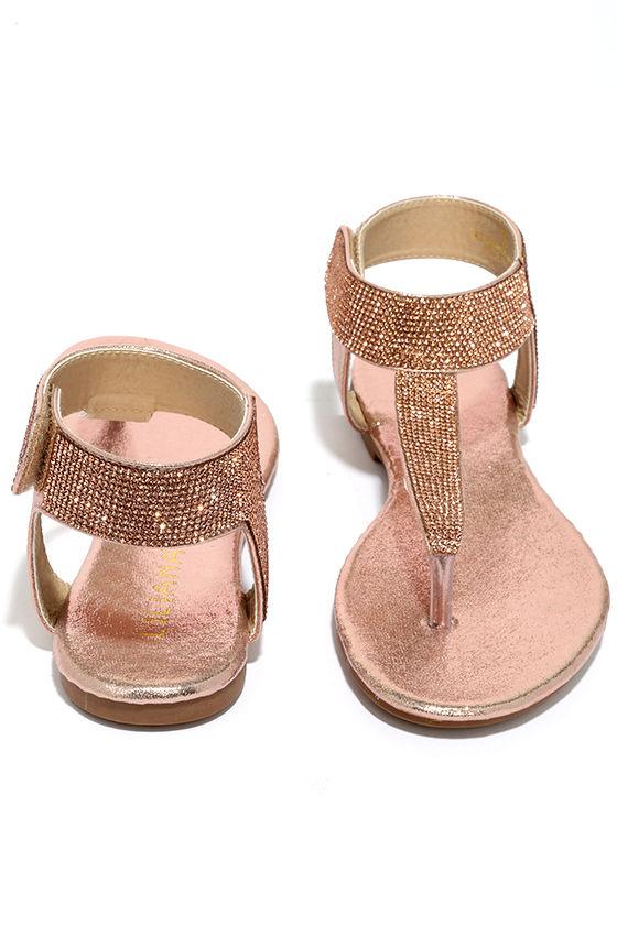 a05292a41 Stunning Champagne Sandals - Rhinestone Sandals - Thong Sandals -  28.00