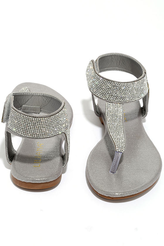 5df9871a856f Stunning Silver Sandals - Rhinestone Sandals - Thong Sandals -  28.00