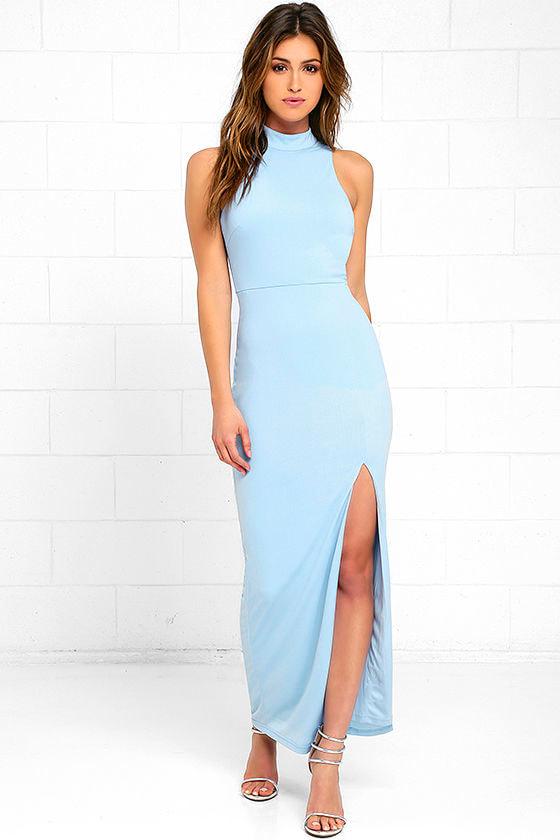 b5881d8b4c Sexy Light Blue Dress - Maxi Dress - Sleeveless Dress - $69.00