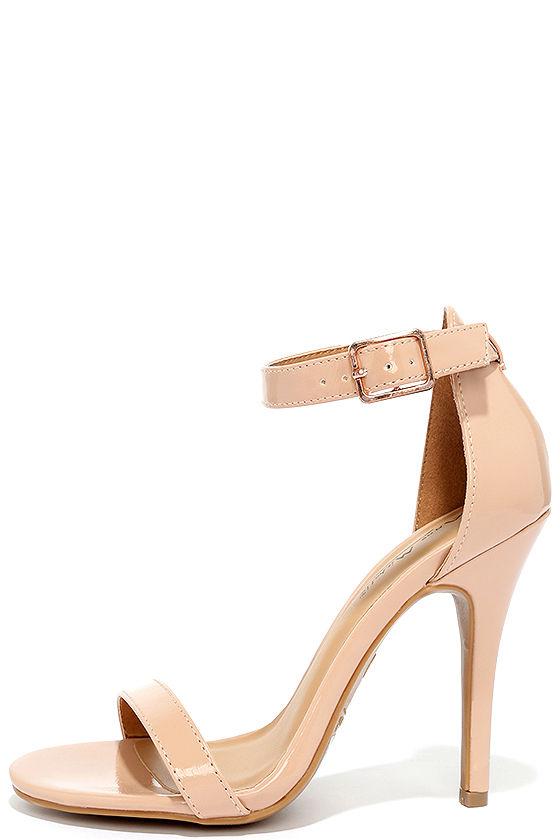 4a51871a87d3 Cute Nude Heels - Ankle Strap Heels - Dress Sandals -  28.00