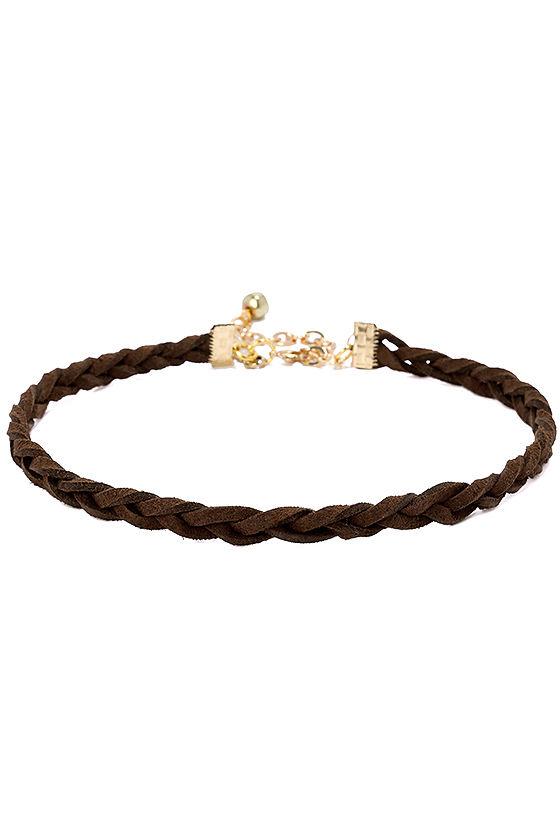 4581f4f0e734 Vanessa Mooney Braided Choker - Brown Choker - $26.00