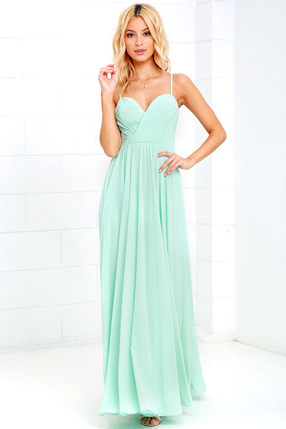 c013487aae05 Nod and Wink - Mint Green Dress - Long Gown - Maxi Dress ...