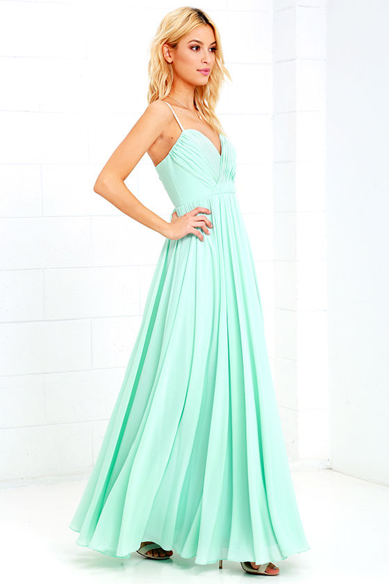 Mint Green Dress - Maxi Dress - Long Gown - $88.00