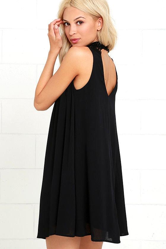 Asana Black Lace Swing Dress 3