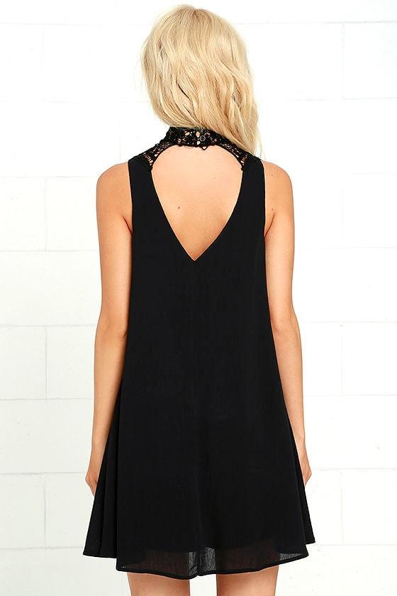 Asana Black Lace Swing Dress 4