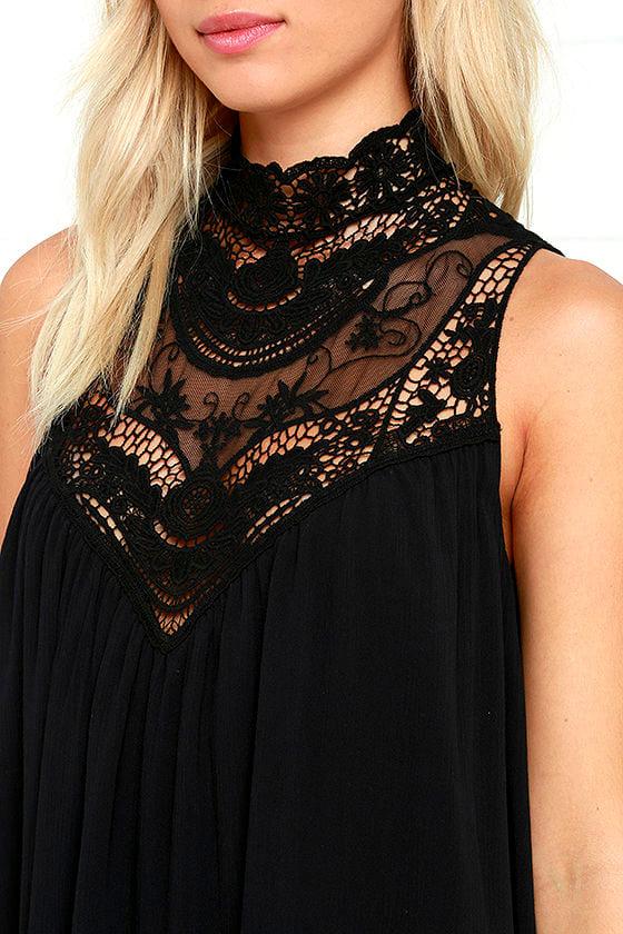 Asana Black Lace Swing Dress 5