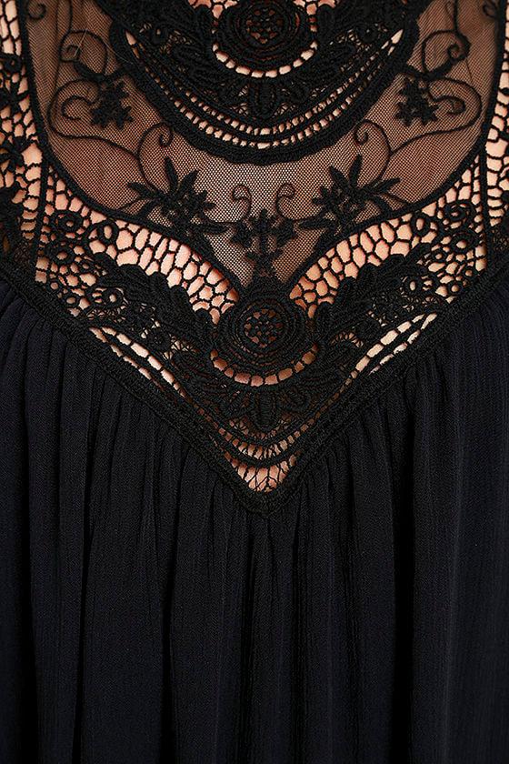 Asana Black Lace Swing Dress 6
