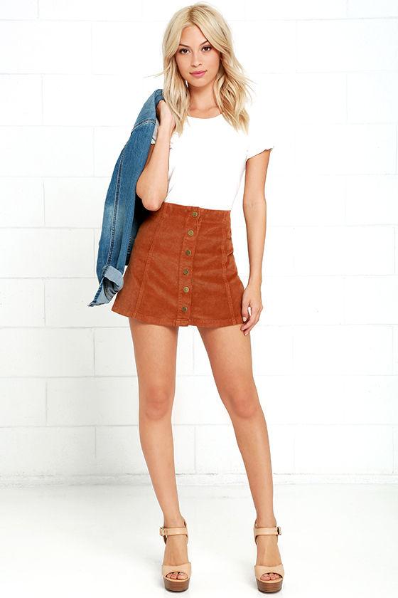 Brown Corduroy Skirt 82