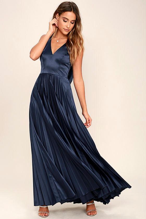 Lovely Navy Blue Dress