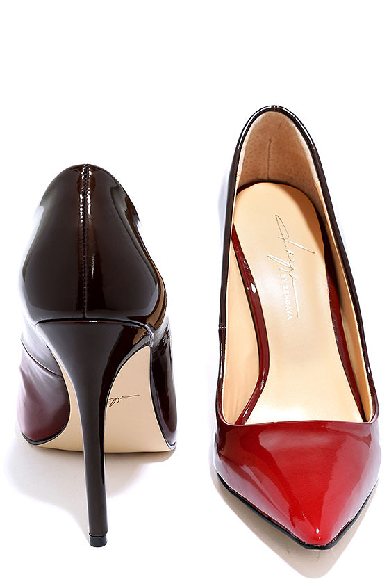 Daya by Zendaya Atmore II Red and Wine Patent Ombre Pumps 2