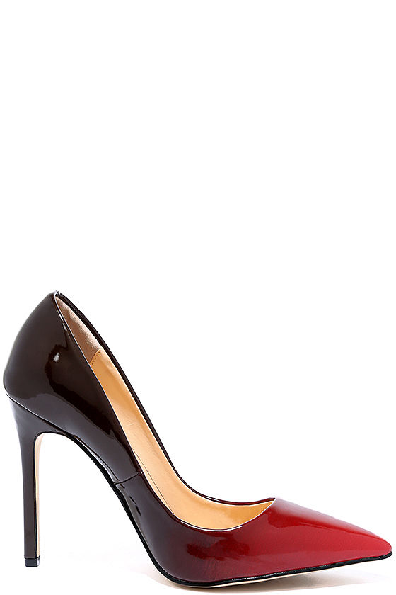 Daya by Zendaya Atmore II Red and Wine Patent Ombre Pumps 3