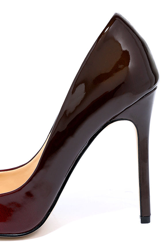 Daya by Zendaya Atmore II Red and Wine Patent Ombre Pumps 6