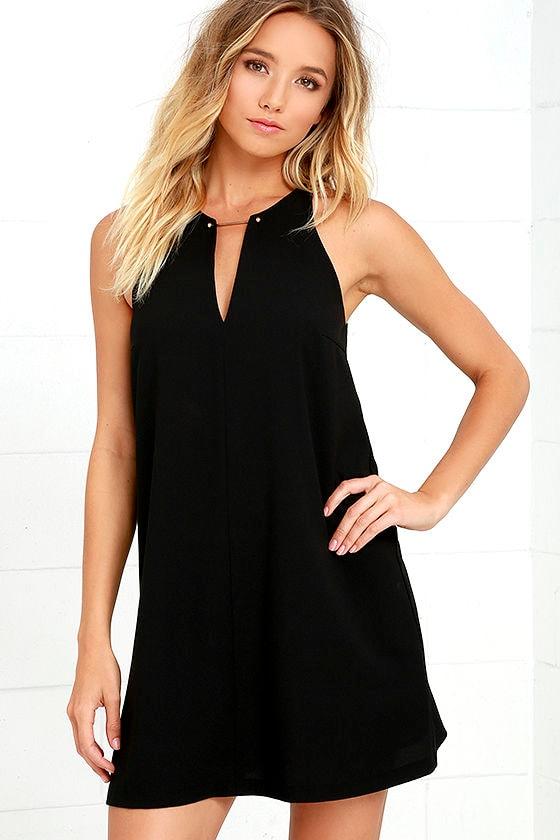 Near or Bar Black Shift Dress 1