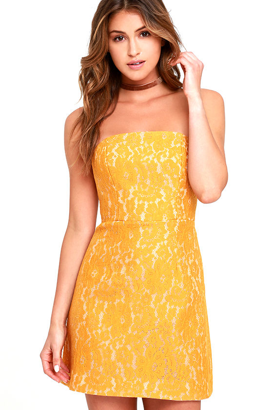 Keepsake Every Way Dress - Yellow Dress -