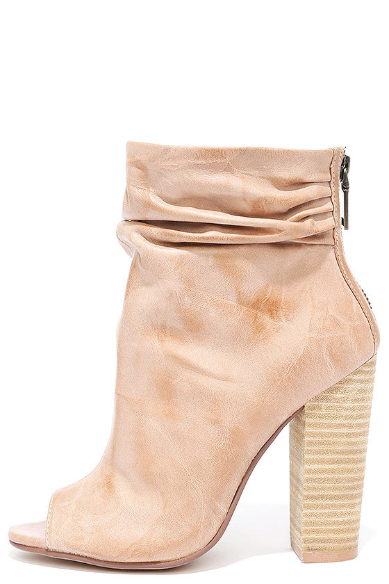 17a0df473ff5 Chinese Laundry Liam Booties - Genuine Leather Booties - Peep-Toe Booties
