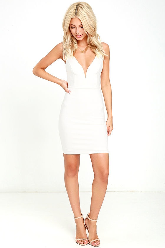 Perfect Pick White Bodycon Dress 2