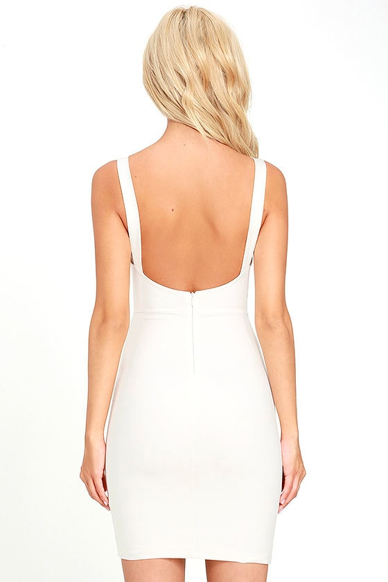 Perfect Pick White Bodycon Dress 4