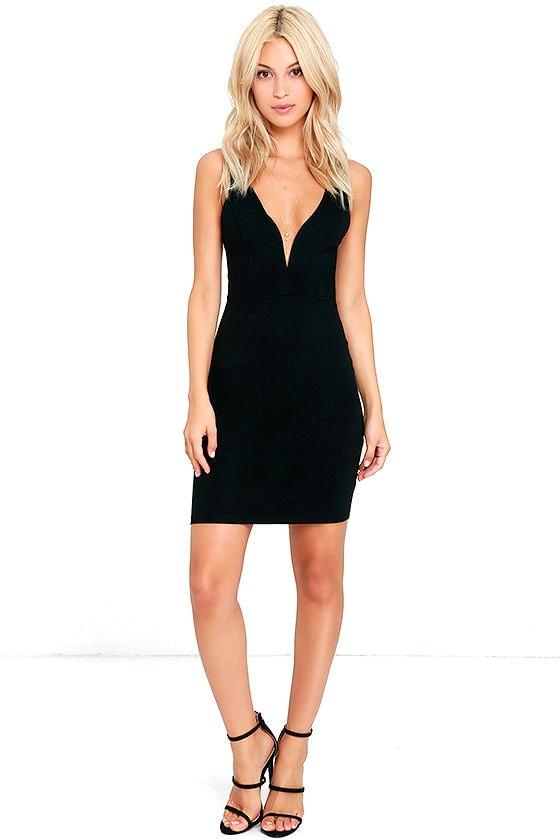 Perfect Pick Black Bodycon Dress 2