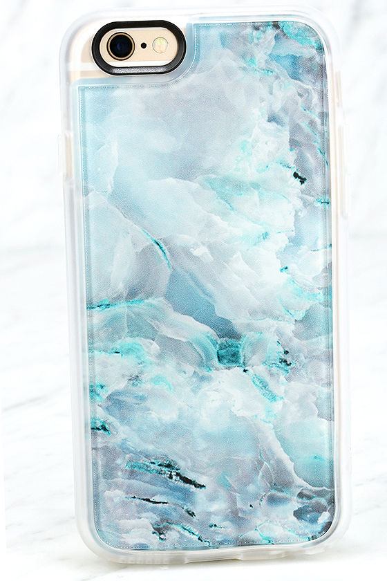 Casetify Teal Onyx Marble Case - Clear iPhone Case - 6 and 6s Case -  40.00 1aeebd909