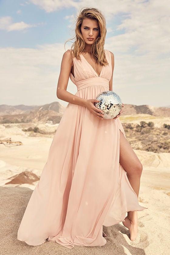 Heavenly Hues Blush Maxi Dress 2