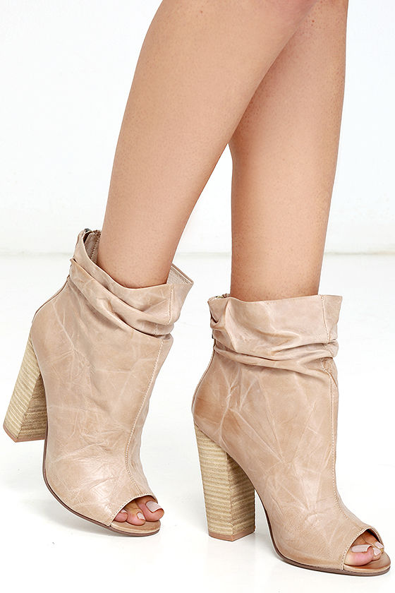 69be99bee49c Chinese Laundry Liam Booties - Genuine Leather Booties - Peep-Toe ...