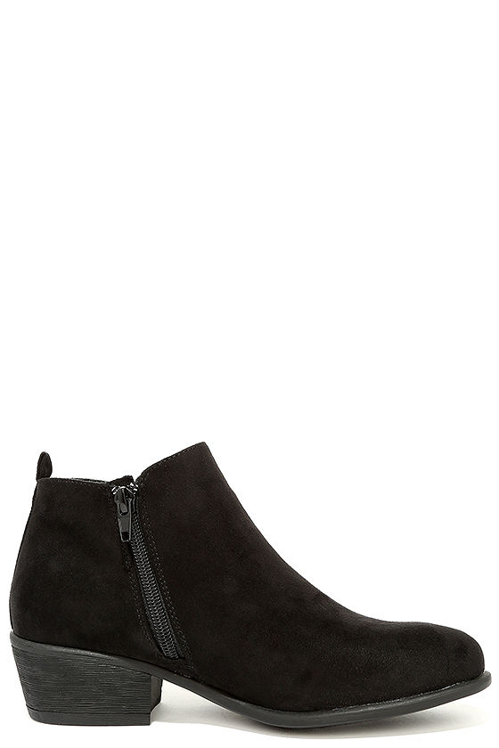Cute Black Booties - Suede Booties - Ankle Booties - $34.00