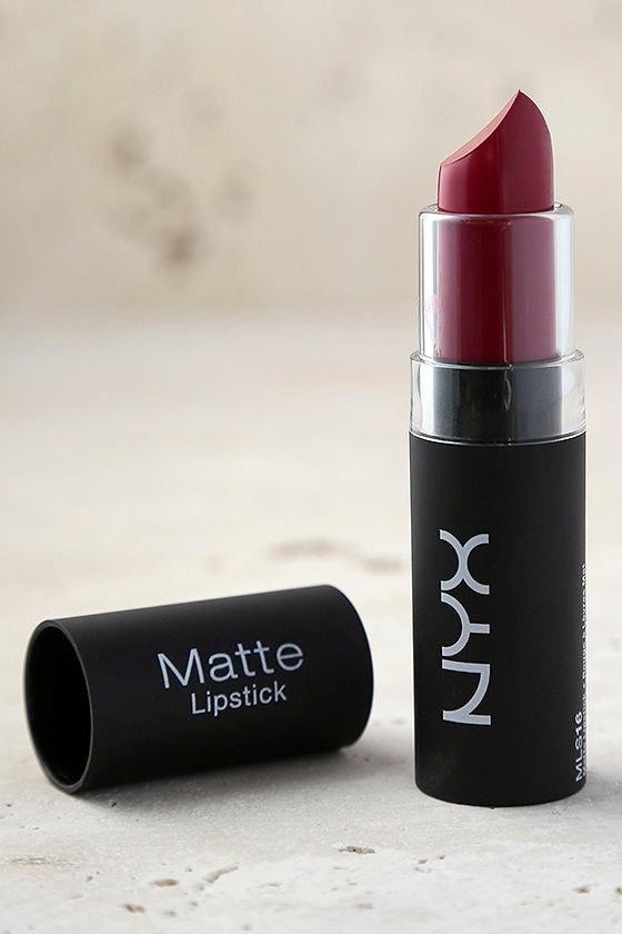 NYX Merlot Wine Red Matte Lipstick 2