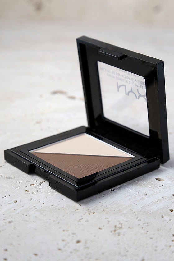 NYX Double Date Light Beige Cheek Contour Duo Palette 1
