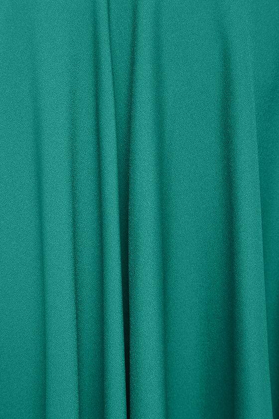 Dance Montage Dark Green Midi Skirt 6