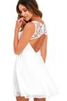 Lovely White Dress - Lace Dress - Skater Dress - Backless Dress -  59.00 c51644008