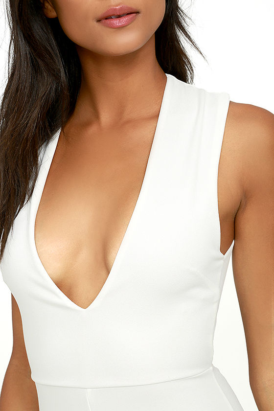 Thinking Out Loud White Backless Jumpsuit 5