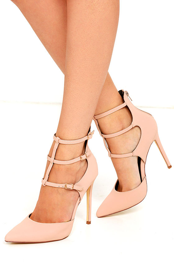 5a63f4947ecc Sexy Nude Heels - Caged Pumps - Pointed-Toe Pumps -  36.00