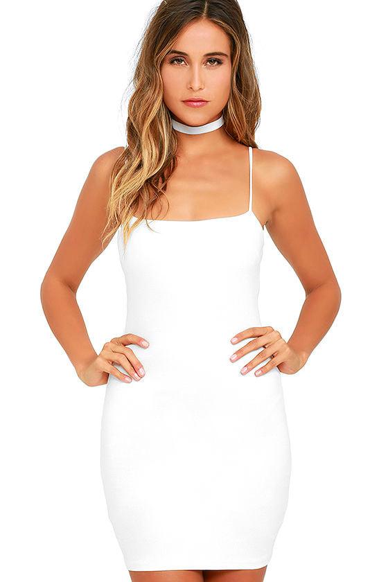 Flaunt It Ivory Bodycon Dress 1