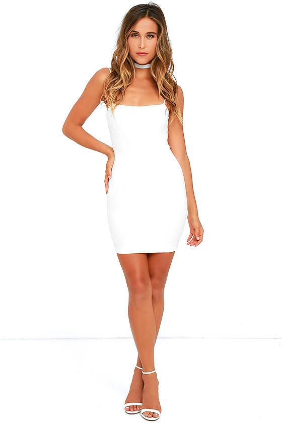 Flaunt It Ivory Bodycon Dress 2