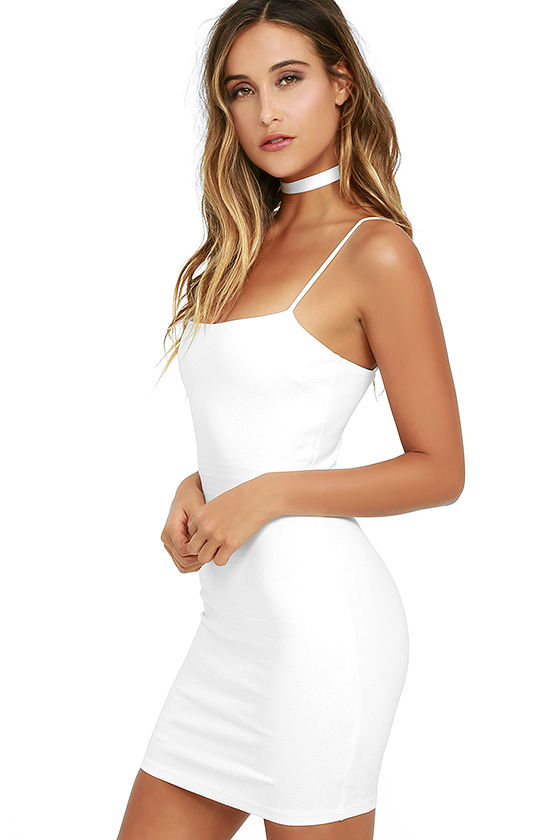 Flaunt It Ivory Bodycon Dress 3