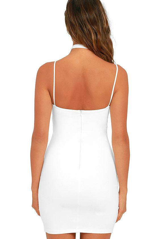 Flaunt It Ivory Bodycon Dress 4