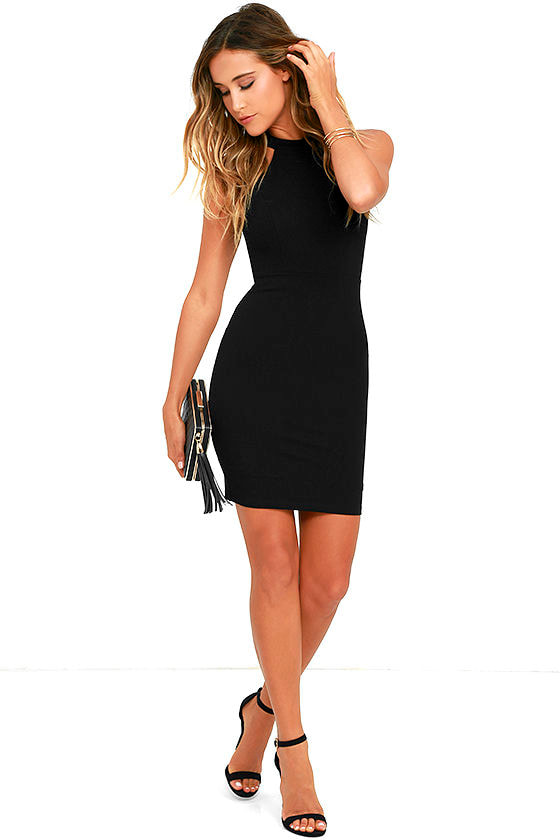 Endlessly Alluring Black Lace Bodycon Dress 2