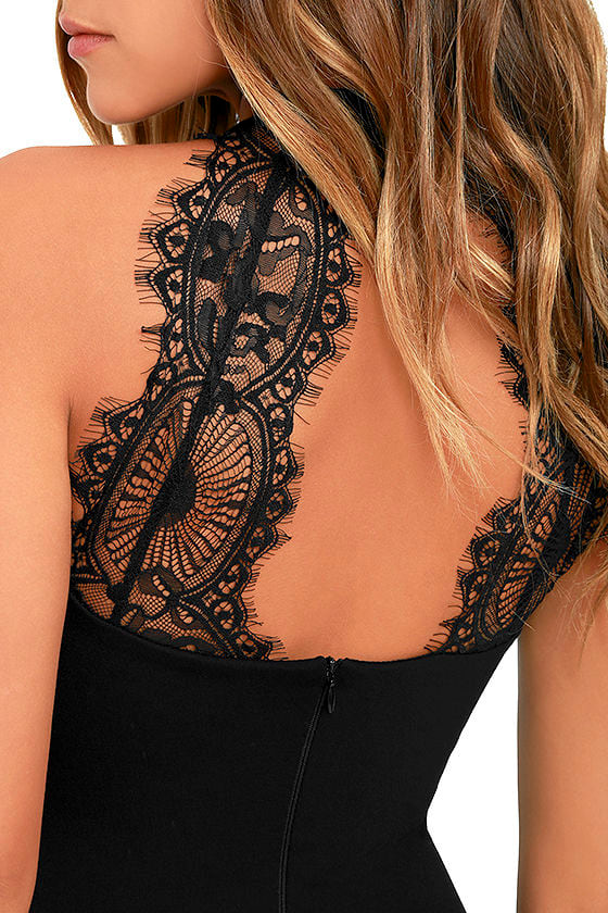 Endlessly Alluring Black Lace Bodycon Dress 5