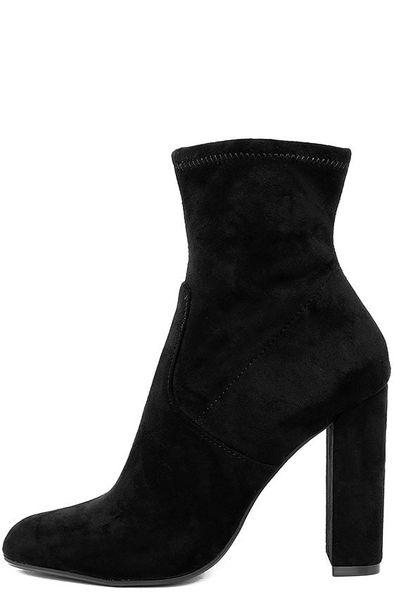 3df0a6c0fb3 Steve Madden Edit Black Suede High Heel Mid-Calf Boots