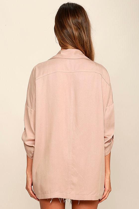 Lucky Break Blush Oversized Jacket 5