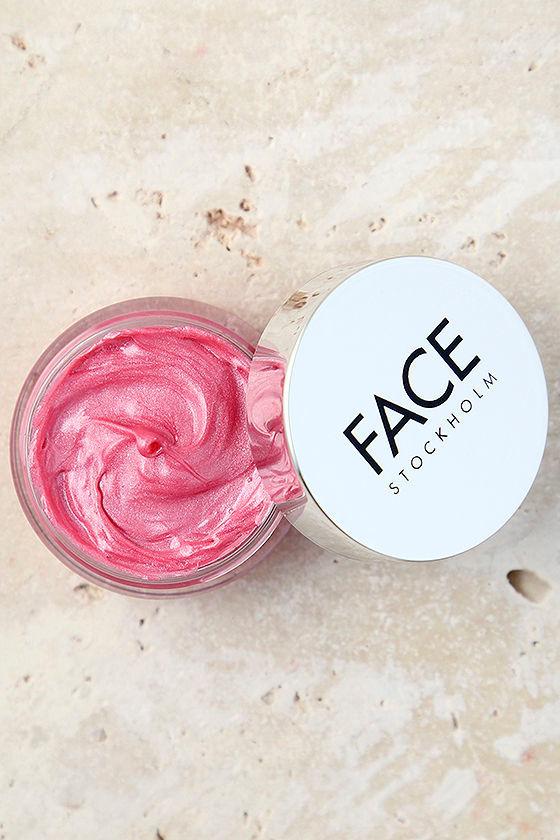 FACE Stockholm Positive Pink Shimmer Pot Gloss 1