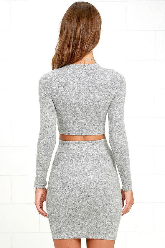 Arabesque Heather Grey Two-Piece Dress 4