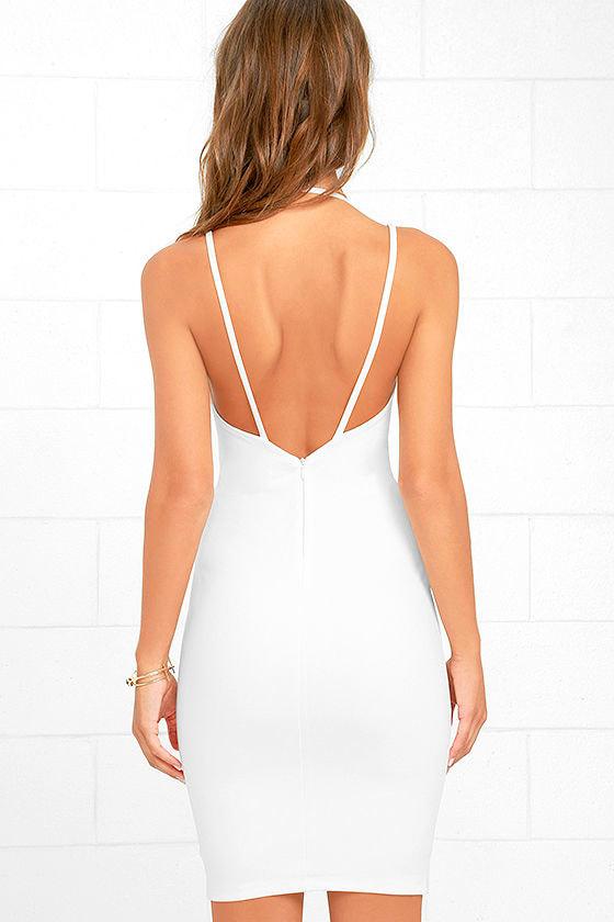 Top Ranking White Midi Dress 5