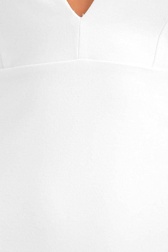 Top Ranking White Midi Dress 7